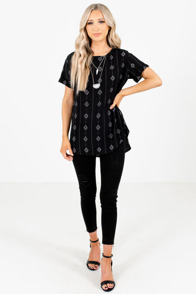 Women's Black Fall and Winter Boutique Tops