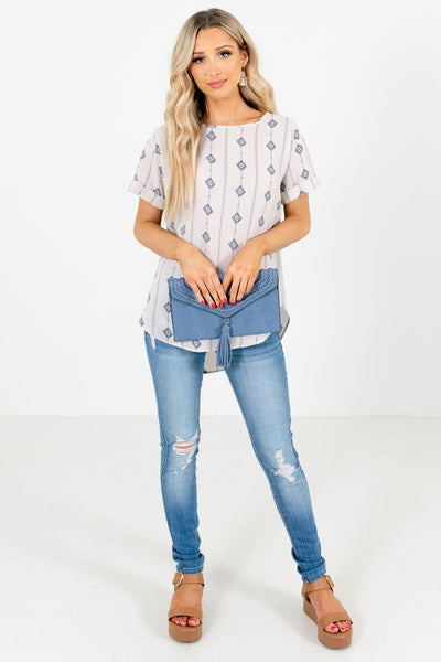 Women's White Fall and Winter Boutique Tops