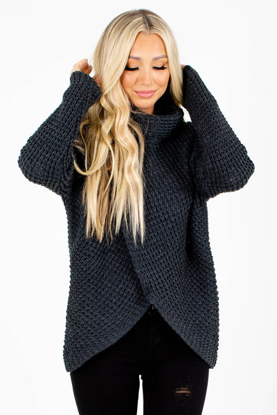 Gray Cute and Comfortable Boutique Sweaters for Women