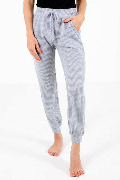 Gray Cute and Comfortable Boutqiue Lounge Pants for Women