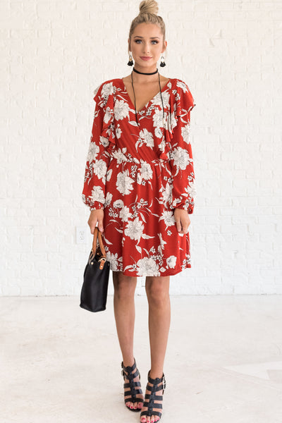 Red Floral Dresses for Women