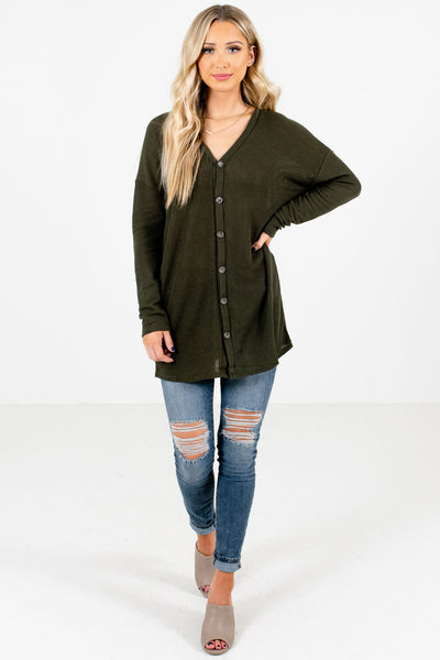 Women's Olive Green Fall and Winter Boutique Clothing