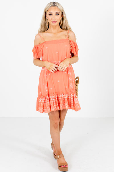 Coral Cute and Comfortable Boutique Mini Dresses for Women