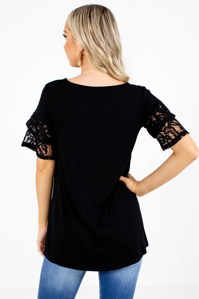 Double Check Lace Sleeve Blouse