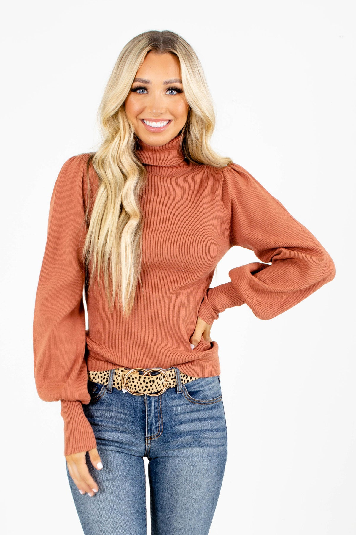 Puff Sleeve Sienna Boutique Top Front
