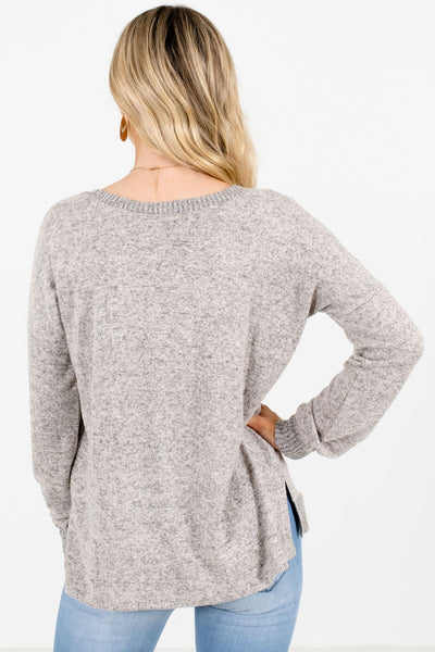 Women's Taupe Brown High-Quality Soft Material Boutique Top