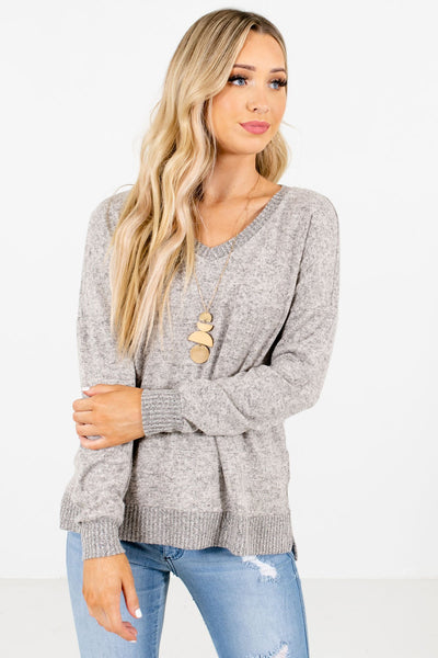Women's Taupe Brown Casual Everyday Boutique Tops