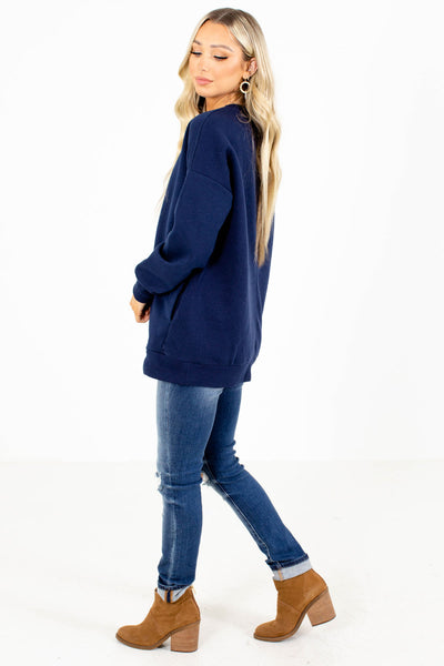 Boutique Style Pullover Sweatshirt with Pockets for Fall