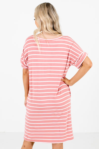 Women's Pink Cuffed Sleeve Boutique Mini Dress