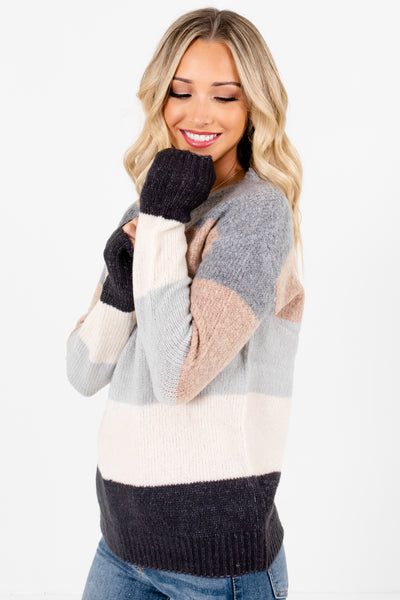 Gray Cozy and Warm Boutique Sweaters for Women
