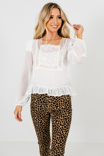 Women's Ruffle Accented Boutique Blouses