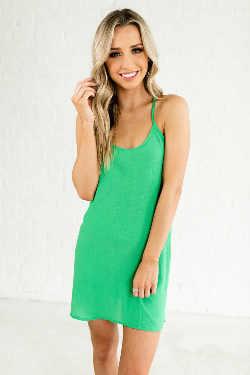 Dreaming of Summer Green Mini Dress