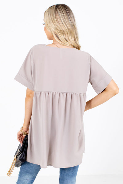Easily Adored Short Sleeve Blouse