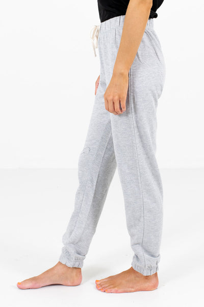 Heather Gray Lightweight High-Quality Material Boutique Joggers for Women