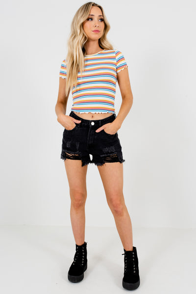 Black Cute and Comfortable Boutique Shorts for Women