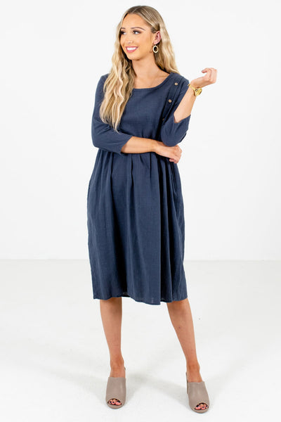Blue Cute and Comfortable Boutique Dresses for Women