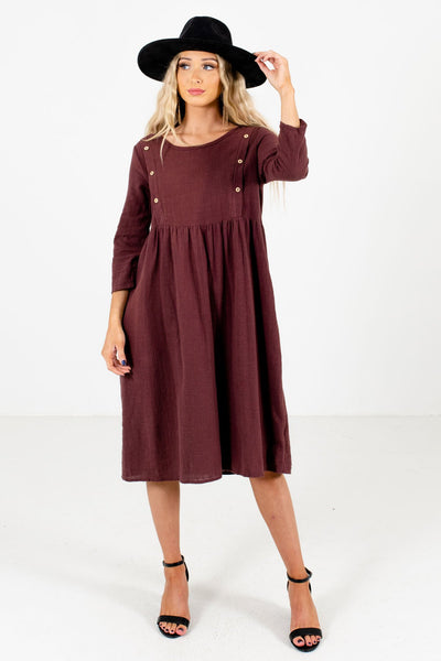 Purple Cute and Comfortable Boutique Dresses for Women