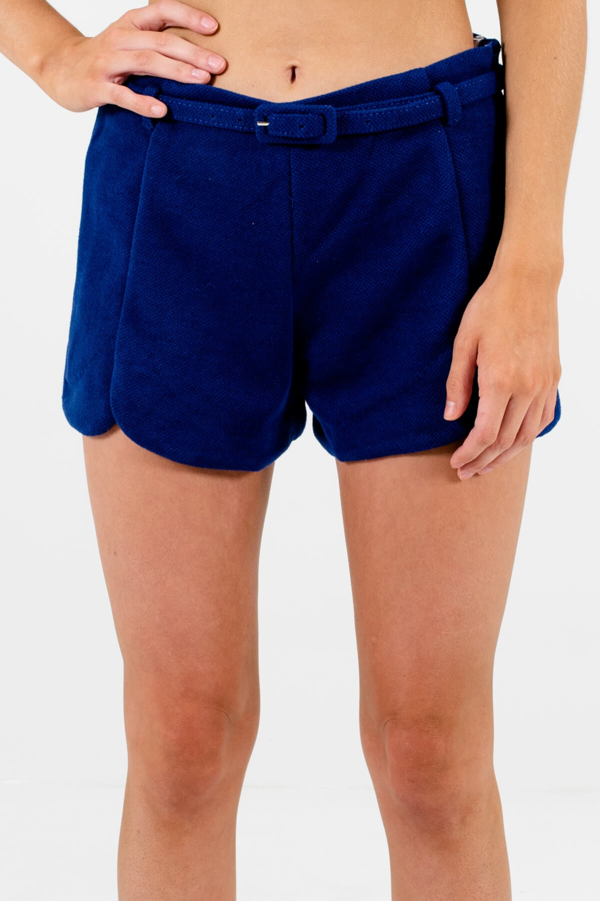 Royal Blue Business Casual Boutique Shorts for Women