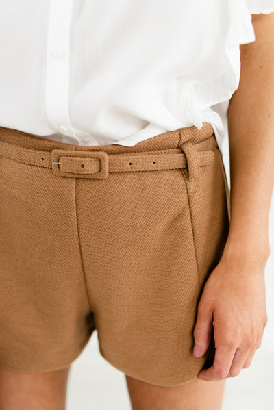 Camel Brown Women's Short Boutique Shorts