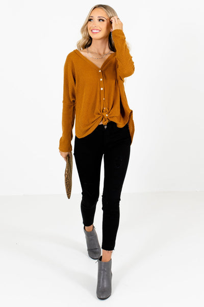 Tawny Orange Cute and Comfortable Boutique Tops for Women