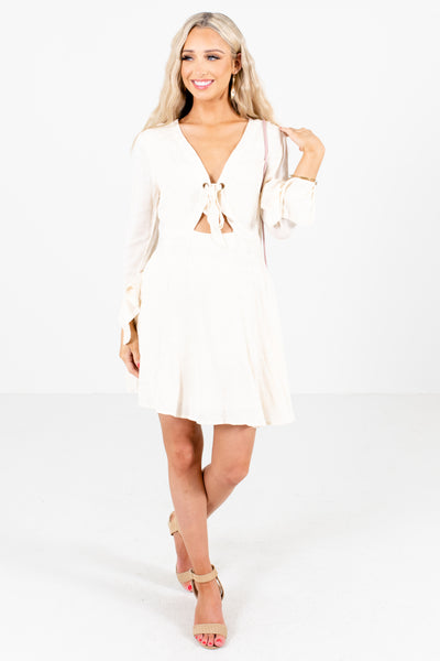Ivory Cute and Comfortable Boutique Mini Dresses for Women