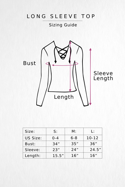 Crop Top size chart