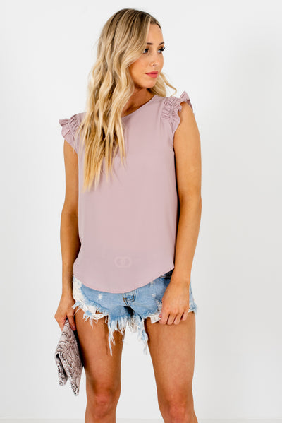 Dusty Mauve Cute and Classy Boutique Blouses for Women