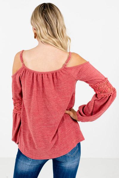 Women's Pink Crochet Detailed Boutique Tops