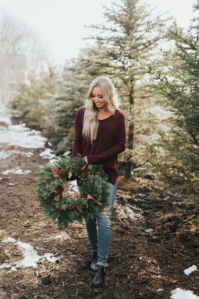 Burgundy Boutique Sweaters for Women