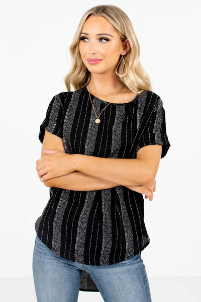 Women's Black Business Casual Boutique Tops