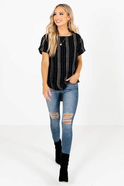 Black and Comfortable Boutique Tops for Women