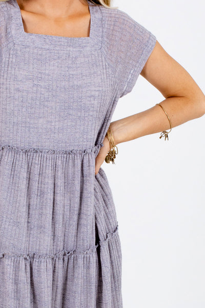 Gray Cute and Comfortable Boutique Maxi Dresses for Women