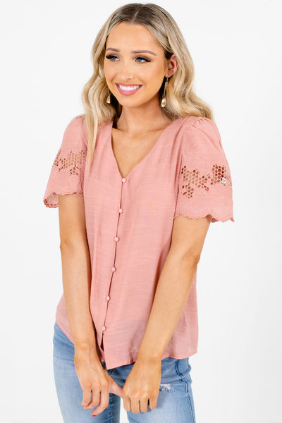 Pink Cute and Comfortable Boutique Blouses for Women