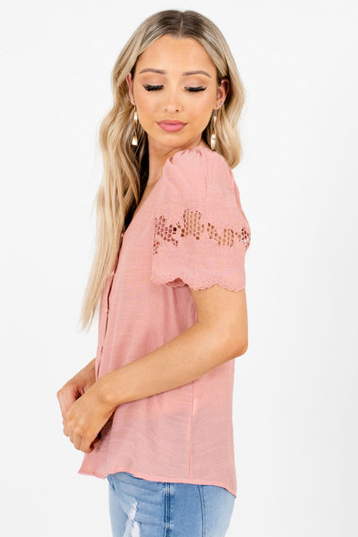 Pink Casual Everyday Boutique Blouses for Women