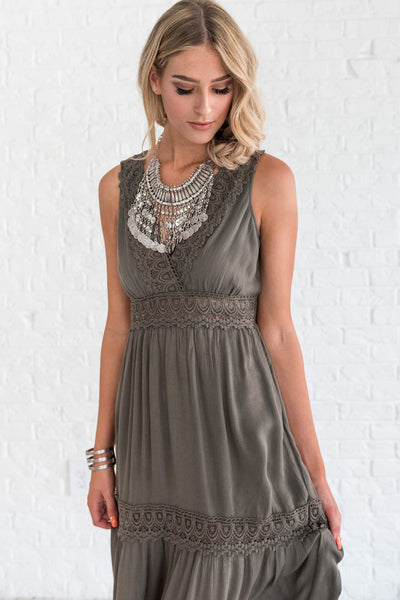 olive green boutique dress