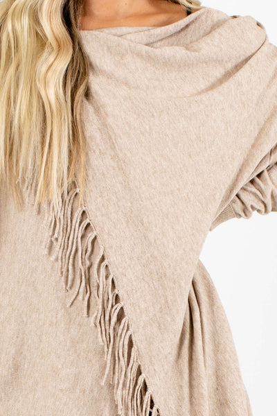 Taupe Brown Affordable Online Boutique Clothing for Women
