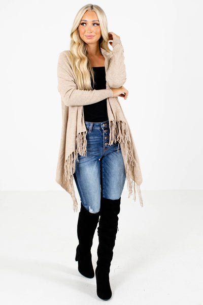 Women's Taupe Brown Fall and Winter Boutique Clothing