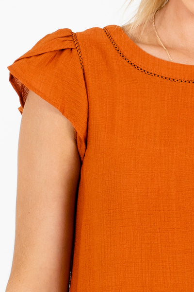Burnt Orange Affordable Online Boutique Clothing for Women