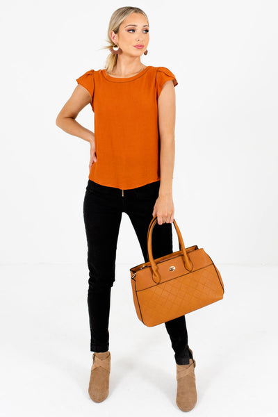 Women's Burnt Orange Fall and Winter Boutique Clothing