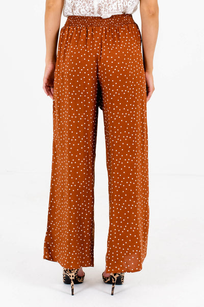 Women's Rust Orange Smocked Waistband Boutique Pants