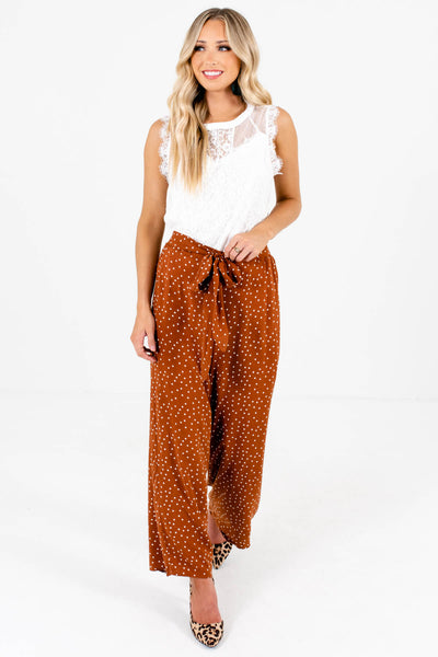 Rust Orange Cute and Comfortable Boutique Pants for Women