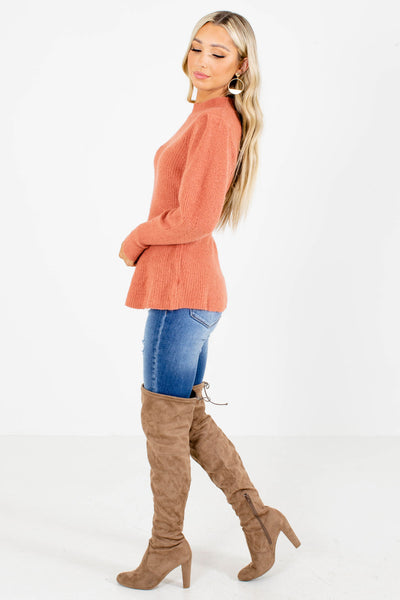 Women's Coral Cozy Boutique Sweater