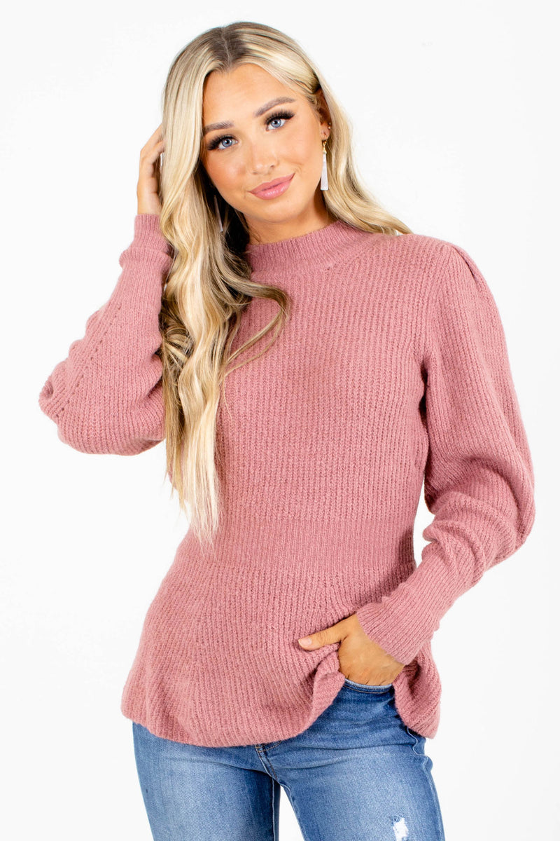 Falling For You Puff Sleeve Sweater