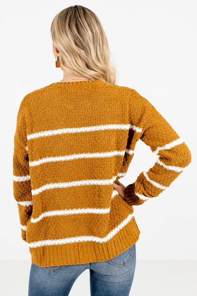 Women's Mustard Yellow Soft Knit Material Boutique Sweater
