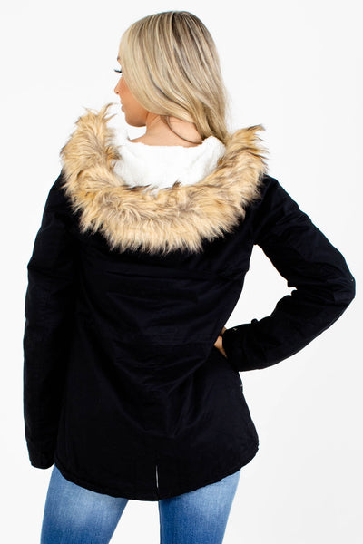 Women's Black High-Quality Boutique Coat