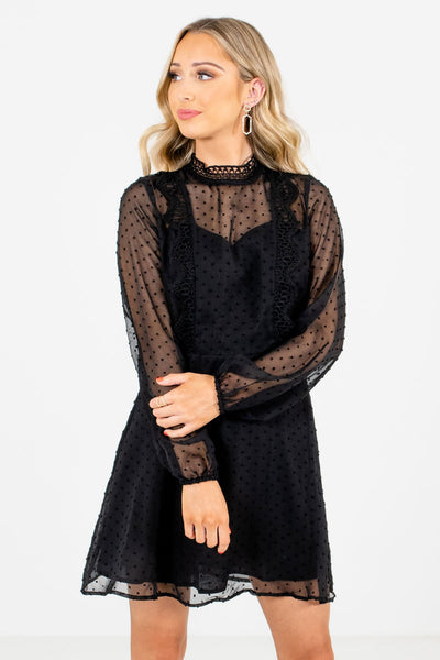 Black Cute and Comfortable Boutique Mini Dresses for Women