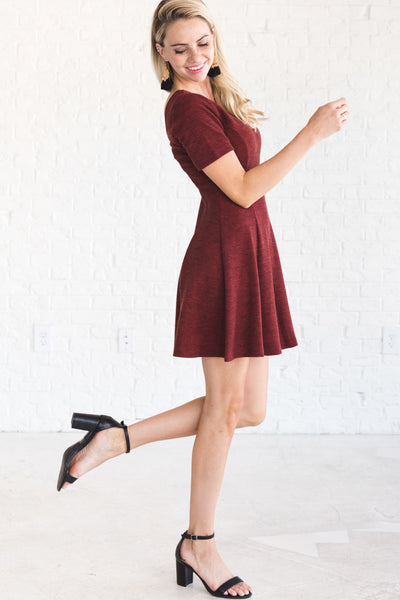 Cute Red Flowy Party Dresses for Women