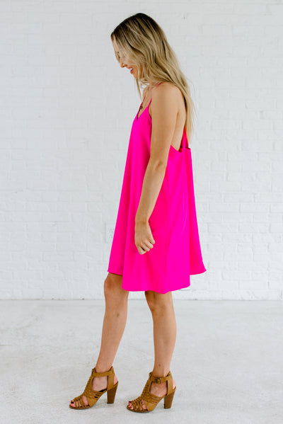 Fuchsia Pink Cute Party Dresses for Women