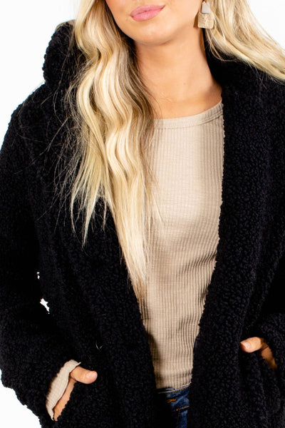 Black Cute and Comfortable Boutique Jackets for Women