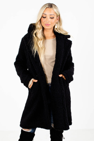 Black Boutique Jackets with Pockets for Women